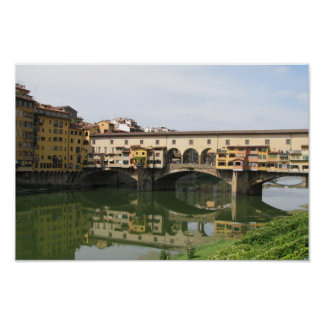 Florence Italy Bridge Poster