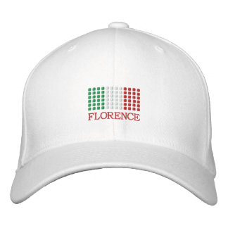 Florence Italy Cap - Florence Italian Flag Hat Embroidered Baseball Cap