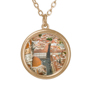 Florence, Italy (Duomo) Gold Plated Necklace
