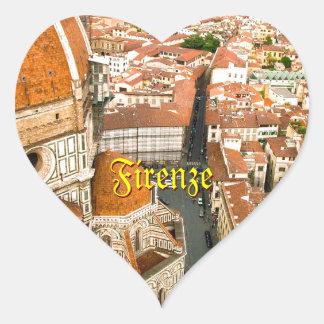 Florence, Italy (Duomo) Heart Sticker