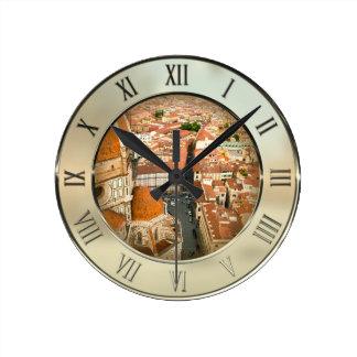 Florence, Italy (Duomo) Round Clock