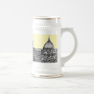 Florence Italy in cream Beer Stein