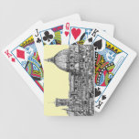 Florence Italy in cream Bicycle Poker Deck