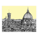 Florence Italy in cream Post Card