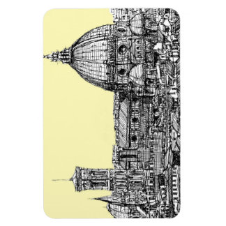 Florence Italy in cream Flexible Magnet