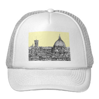 Florence Italy in cream Trucker Hat