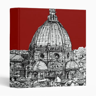 Florence Italy in red 3 Ring Binder