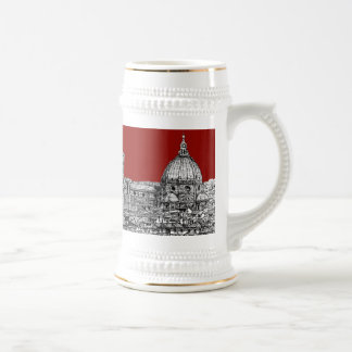 Florence Italy in red Beer Stein