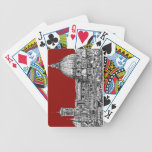 Florence Italy in red Poker Deck