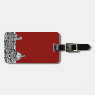 Florence Italy in red Tag For Luggage