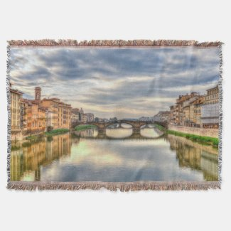 Florence Italy Landscape Blanket Throw Blanket