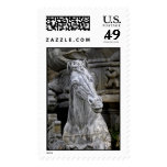 Florence Italy Neptune Fountain Horses Right Stamps
