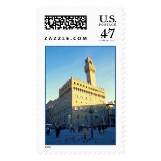 Florence, Italy (Piazza della Signoria) Postage Stamp
