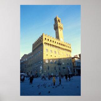 Florence, Italy (Piazza della Signoria) Poster
