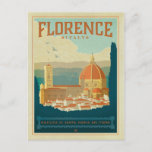 """Florence, Italy Postcard<br><div class=""""desc"""">Anderson Design Group is an award-winning illustration and design firm in Nashville,  Tennessee. Founder Joel Anderson directs a team of talented artists to create original poster art that looks like classic vintage advertising prints from the 1920s to the 1960s.</div>"""
