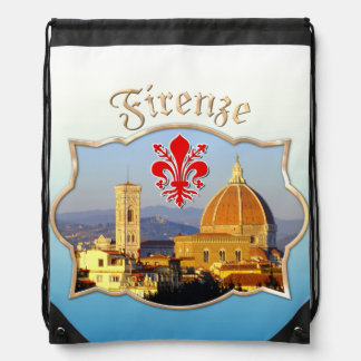 Florence, Italy - Santa Maria del Fiore Drawstring Backpack