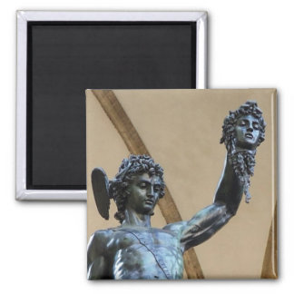 florence, italy sculpture 2 inch square magnet