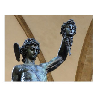 florence, italy sculpture postcard