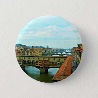 Florence, Italy shopping bridge Button