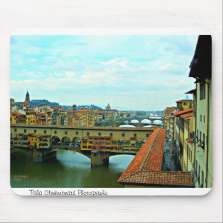 Florence, Italy shopping bridge Mouse Pads