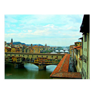 Florence, Italy shopping bridge Postcard