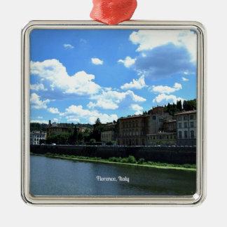 Florence, Italy skyline Square Metal Christmas Ornament
