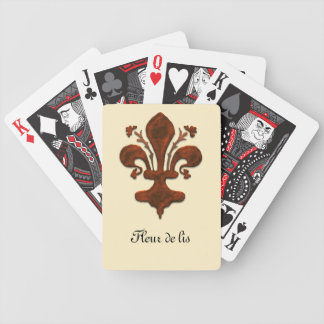 Florence Italy Style Fleur de Lis Playing Cards