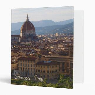 Florence Italy Travel Keepsake Gift 3 Ring Binders