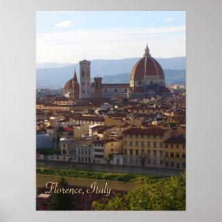 Florence Italy Travel Keepsake Poster