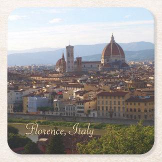 Florence Italy Travel Keepsake Square Paper Coaster