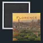 """Florence Italy Travel Photo Souvenir Fridge Magnet<br><div class=""""desc"""">Tip: dates added to your magnets make a fun chronology of your travels.</div>"""