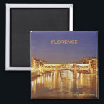 """Florence Italy Travel Photo Souvenir Fridge Magnet<br><div class=""""desc"""">Florence Italy Travel Souvenir Fridge Magnet.  Tip: Dated travel souvenir magnets are a fun way to keep a chronology of your travels and it&#39;s easy to add a date.</div>"""