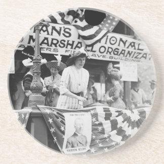 Florence Jaffray Hurst Daisy Harriman Suffragette Drink Coaster