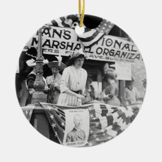 Florence Jaffray Hurst Daisy Harriman Suffragette Double-Sided Ceramic Round Christmas Ornament