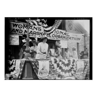 Florence Jaffray Hurst Daisy Harriman Suffragette Poster