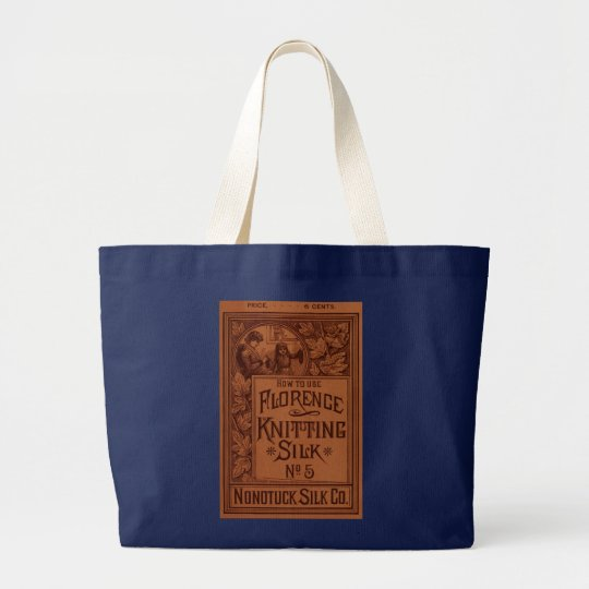 Florence Knitting Silk cover Large Tote Bag