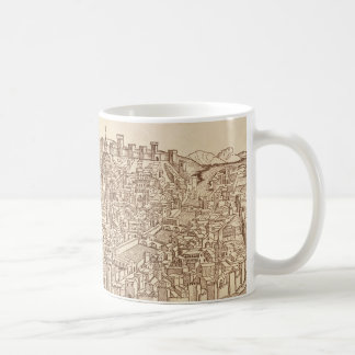 Florence, Medieval Woodcut Coffee Mug
