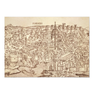 "Florence, Medieval Woodcut 5"" X 7"" Invitation Card"