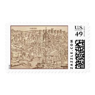 Florence, Medieval Woodcut Postage Stamp