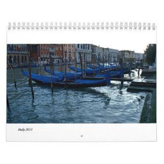 Florence, Milan and Rome Calendar