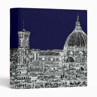 Florence navy dome 3 ring binder