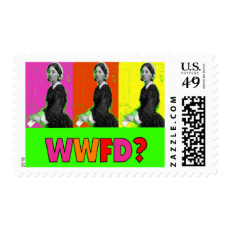 """Florence Nightengale Gifts """"WWFD?"""" Postage"""