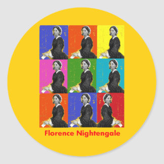 florence nightengale POPART T-Shirts & Gifts Classic Round Sticker