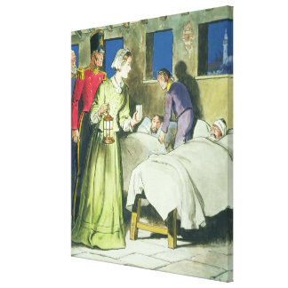 Florence Nightingale (1820-1910) from 'Peeps into Canvas Print