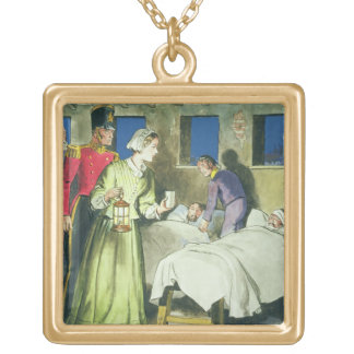 Florence Nightingale (1820-1910) from 'Peeps into Gold Plated Necklace