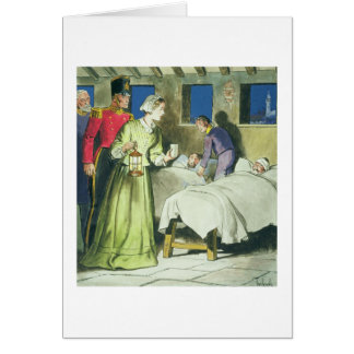 Florence Nightingale (1820-1910) from 'Peeps into Greeting Card