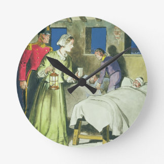 Florence Nightingale (1820-1910) from 'Peeps into Round Clock