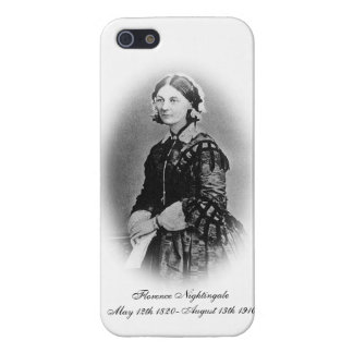 Florence Nightingale Cameo/Black and White Cover For iPhone SE/5/5s