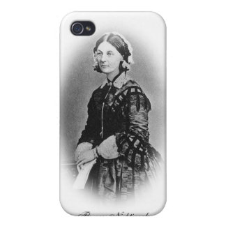 Florence Nightingale Cameo/Black and White iPhone 4 Cover
