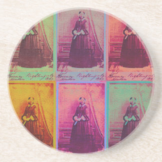 Florence Nightingale Colors Drink Coaster